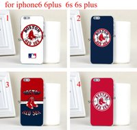 apple sox - 4pcs mlb Boston red sox Hard Skin Transparent stealth Case Cover for iPhone s iphone s plus