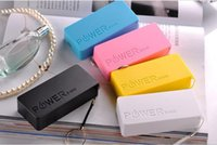 Wholesale 5600mah Power bank Perfume Phone Power Bank Emergency External Battery Charger Cell Phone Chargers panel USB for All Mobile phones