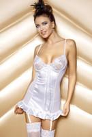 Wholesale Hot selling sexy lingerie costumes spandex Lycra erotic lingerie black white colors plus size M XL XXL mix order