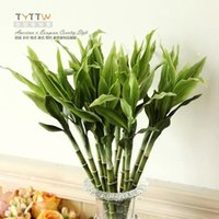 artificial lucky bamboo - Artificial indoor lucky bamboo flowers green bamboo plants greenery adornment ornament for home decoration