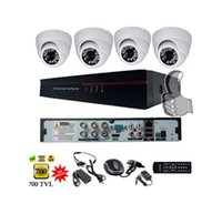 Wholesale Free ship Channel CMOS TVL Camera Full D1 Video Recorder CCTV System Security Camera System
