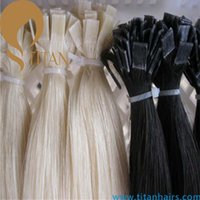 Cheap Free shipping top grade Brazilian human hair pre bonded hair extension silky straight keratin flat tip hair extension