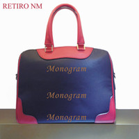 bamboo stamps - designer handbags high quality New RETIRO genuine leather bag for women Free hot stamping name initials
