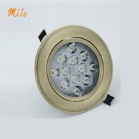 aluminum bronze plate - 3W W LED spotlight Downlight Bridgelux W high brightness LED chips perfect plated bronze surface degrees adjustable spotlight