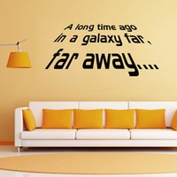 away room - 2016 New Star Wars Wall Decals Far Away Quotes Vinyl Removable Large Wall Stickers DIY Mural Art Home Decor Living room Decoration