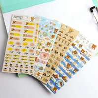 animal cell graphic - 100Sheets Japan SAN X easily bear gilt decorative stickers affixed lazy bear seal stickers cell phone stickers cartoon stickers
