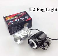 Bulbs Universal Universal Super Lighting 30W CREE T6 U2 Motorcycle LED Spot Fog Light Waterproof Black Silver Motorbike Headlight Flash fogLamp Front light