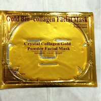 beauty delivery - 50pcs Free Delivery Crystal collagen facial mask Gold Powder Bio collagen Facial Mask Deck out women Magical Beauty W0132