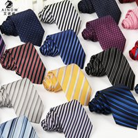 Wholesale 100 Silk Mens business Tie Neckties Leisure Polyester silk arrow jacquard striped ties styles new arrivel