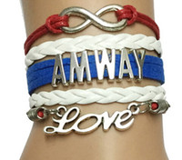 american corporation - 2016 new lucky men women Drop Shipping Infinity Love ANWAY Bracelet Cusomized Cosmetics Corporation Handmade Leather Friendship Gift