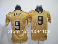 authentic football jerseys cheap - Factory Outlet Cheap Drew Brees Gold Old Style Brand Authentic Throwback Football Jerseys Jersey Top Qualit