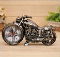 Wholesale Four styles cool motorcycle alarm clock creative home gifts fashion watches ornaments of motorcycle desk clock decoration office supplies