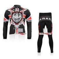 Wholesale Rock Racing team long sleeve autumn cycling wear clothes bicycle bike riding cycling jerseys pants set