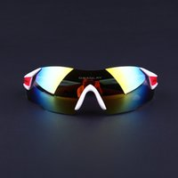 Wholesale Freeshipping Rimless Men Women UV400 White and Red Cycling Sunglasses Sport Bicycle Glasses Mountain Bike Goggles Ciclismo Eyewear