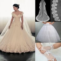 ball gown gloves - Maison Yeya Wedding Dresses Hand Made Flowers Feathers Appliques Chapel Train Bridal Dresses Get a Veil Petticoat Glove Real Images