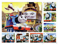 Wholesale 40pcs pack Thomas train Puzzles Style For Choice Thomas train Characters Pattern Children Education Games Toys For Kids Gift H0576a