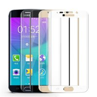 Wholesale For Galaxy S7 Edge MM H S6 Edge D Curve Full Screen Protector Tempered Glass for Samsung Galaxy S6 Edge Plus With Retail Package