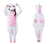 animal game for kids - 2016 Cosplay Pink Unicorn Animal Pajamas for Kids Hooded Conjoined Sleepwear Costumes Unisex Onesie Soft Sleepwear