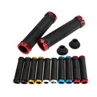 Wholesale ROCKBROS Pair MTB Mountain Bike Grips Rubber Lock On Handlebars Lock on Grips Fixed Gear Fixie Grips End knock off