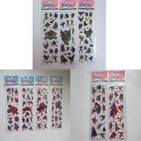 Wholesale 17 cm The Avengers children Sticker Spiderman Batman Superman MIX Sale Decorative Stickers