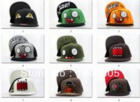 baseball hats - 2015 new cartoon snapback hats Plants vs Zombies spongebob DOMO Nickelodeon adjustable baseball caps