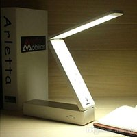 Wholesale White LED Foldable Rechargable Reading Desk Table Lamp Light Touch Control