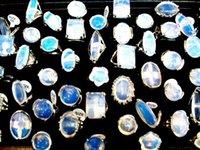 Cheap wholesale lots fashion opal Natural stone rings fashion jewelry rings wedding rings charming rings