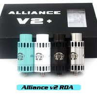 alliance metal - Vaporizer Alliance V2 RDA Clone Rebuidable Atomizers Adjustable Airflow Square Insulator With Wide Bore Drip Tips Fit Mechanical Mods DHL