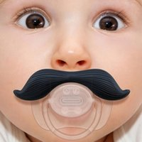 Wholesale Newest High Quality Funny Infant Mustache Baby Appease Nipple Silicone Creative Cute Bread Baby Nipple for Boy Girl