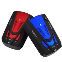 Wholesale V7 VG Car Radar Detector LED Speed Laser Dector Speed Alarm English Russian Version Blue Red