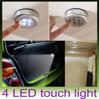 Wholesale Mini Round LED Push Tap Stick Convenient Touch Practical Car trunk Night Light Lamp Cordless Car Bulb