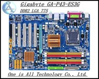 Wholesale 100 original All solid state motherboard for Gigabyte GA P43 ES3G DDR2 LGA P43 ES3G support GB free4 shipping