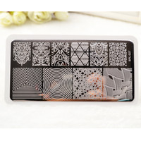 arts stamps - BP L027 IllusionTheme Nail Art Stamp Template Image Plate Rctangular Stamping PLates BORN PRETTY x cm