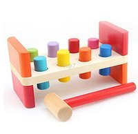 benches baby - Christmas gifts Perfect Quality Wooden Pounding Bench With Hammer Kids Baby Preschool Toys