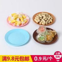 Wholesale Colorful food grade plastic tableware small dishes snacks snack dishes melon flat plates