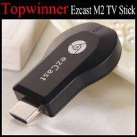 Wholesale Ezcast M2 TV Stick EZchrome EZ Cast M2 HDMI P Miracast DLNA Airplay Wifi Display Receiver Dongle Support Windows IOS Android V762 box