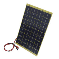 Wholesale Solar Panels W Polycrystalline Silicon Photovoltaic Components Solar Charger Epoxy Board With Meter wire And Clip