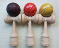 Wholesale 18 cm cm Crack Dragon Skin Kendama Cracking Kendama Japanese Traditional Wood Game Kids Toy toys for Children s Day