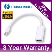 Wholesale 4K x K Thunderbolt Mini Displayport DP to HDMI High Resolution K Ultra HDTV Adapter For Apple MacBook Pro Air iMAC CL17