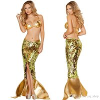 Wholesale 2015 HOT Foreign trade sexy mermaid sequin bra sexy lingerie dress uniform temptation suit European and American factory direct supply