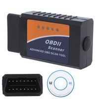 Wholesale Auot Car OBD OBD2 OBDII ELM327 ELM V2 Bluetooth Car Interface Scanner Works On Android Diagnostic Tool Oversea Stock