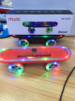 led led manufacturer - manufacturers Christmas Gift LED Flash Kick scooters Mini bluetooth speakers wireless Subwoofer Stereo Portable Skateboard speaker