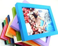wood photo frame - Contracted modern Fashion home decoration romantic wedding creative gifts wall mounted solid wood photo fram
