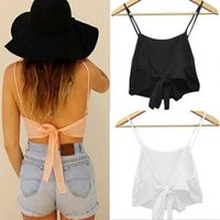 Wholesale Summer Wholesales Fashion Sexy Tops For Women Sleeveless Camisole Shirt Casual Blouse Crop Top