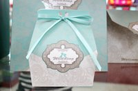 Wholesale Large size cm cm cm light blue candy box wedding party paper bags birthday creative gift candy boxes