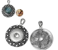 antique jewerly - NOOSA antique silver mm Ginger Snaps Button round cooper rhinestone necklaces Pendants hot Interchangeable DIY Jewerly accessories