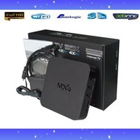 Wholesale 13PCS MXQ smart TV BOX Amlogic S805 Quad Core Android4 K GB GB XBMC Load WIFI Airplay Miracast