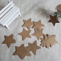 Wholesale Small Star Card Lage Tags Kraft Paper Label Wedding Christmas Halloween Party Favor White Black Brown Colors