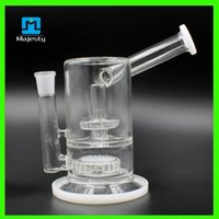 Wholesale glass bongs water pipes recycler filter percolators smoking two functions new glass water pipe