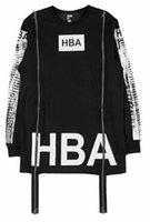air ray - New Boy Streetwear Tees Men s hba hood by air Spinal Cord X ray Double Zippers Casual long Sleeve T Shirts Men Hip Hop T shirt